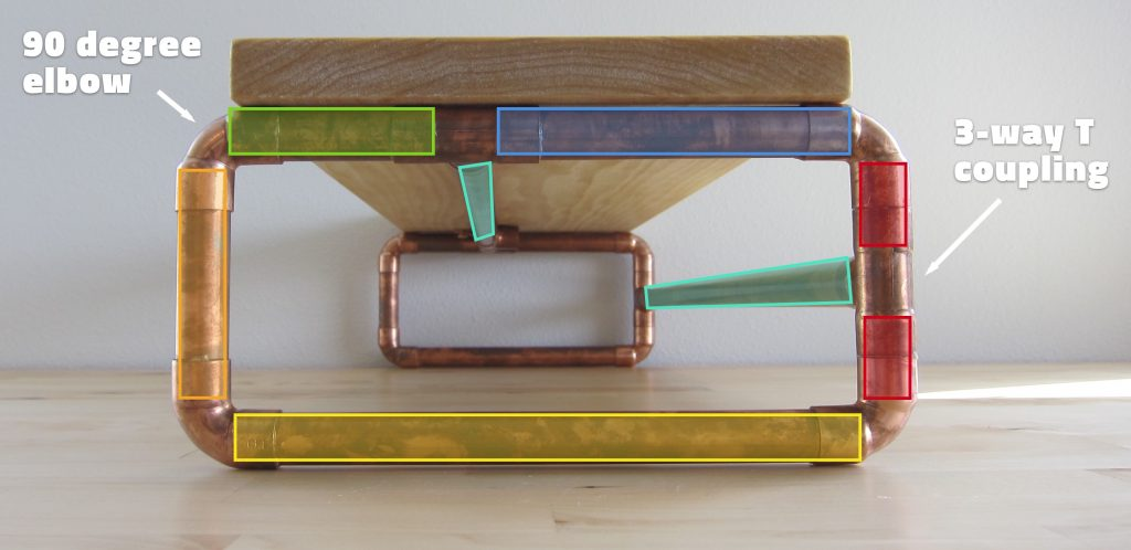 Diy Copper And Wood Monitor Stand